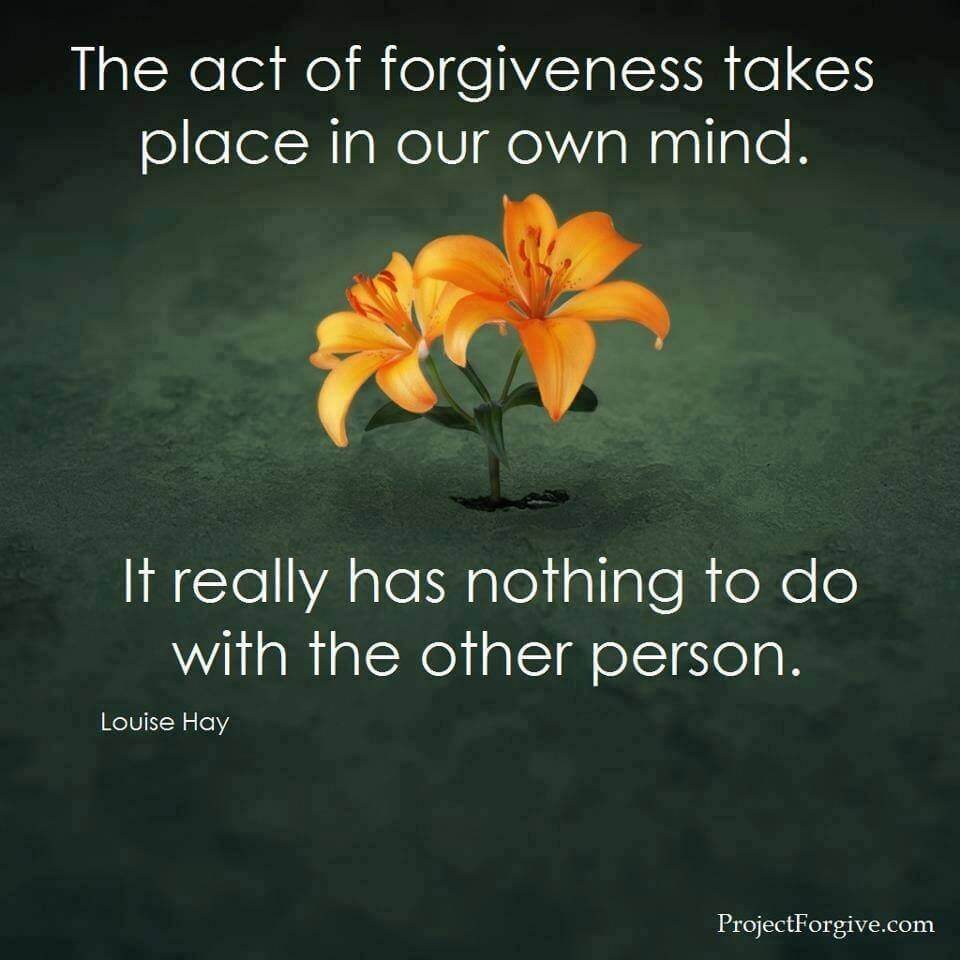 learning to forgive someone