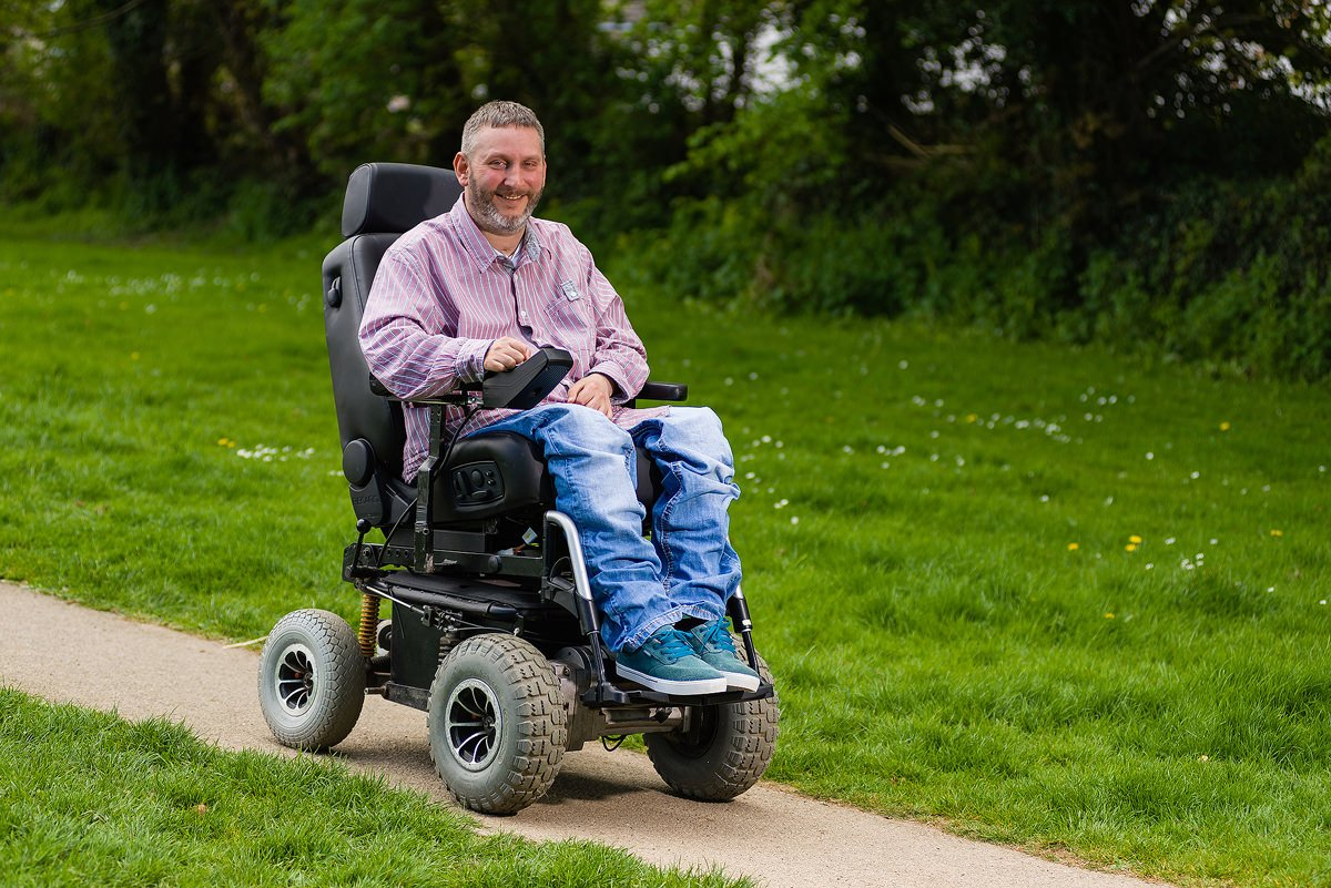 Steven Webb in wheelchair inner peace coach