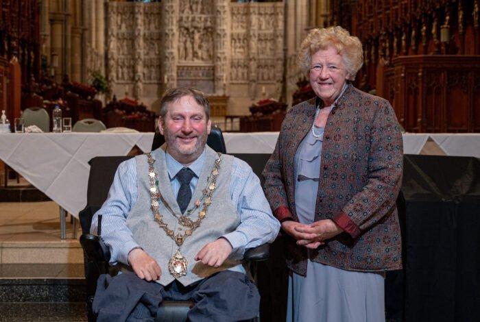 Steven Webb and Councillor Mrs Carlyon
